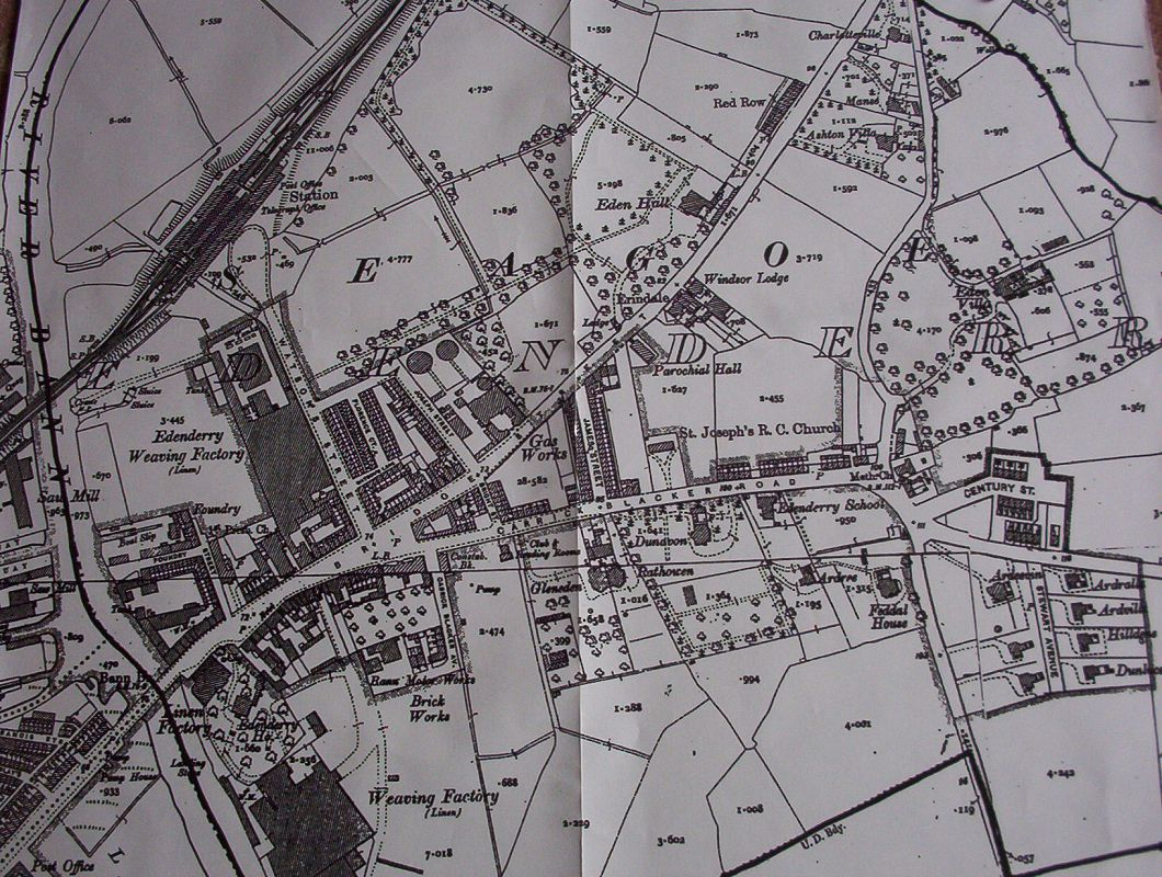 Ordnance Survey Map of Edenderry - 1907
