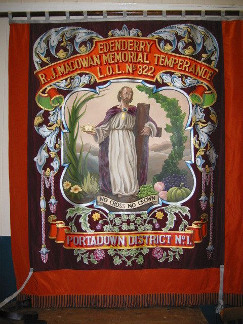 Reverse of Edenderry LOL 322 banner painted by lodge member Bro. Jim Edgar