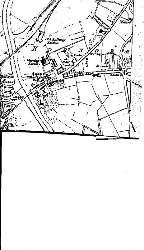 Survey map of the Edenderry area 1858
