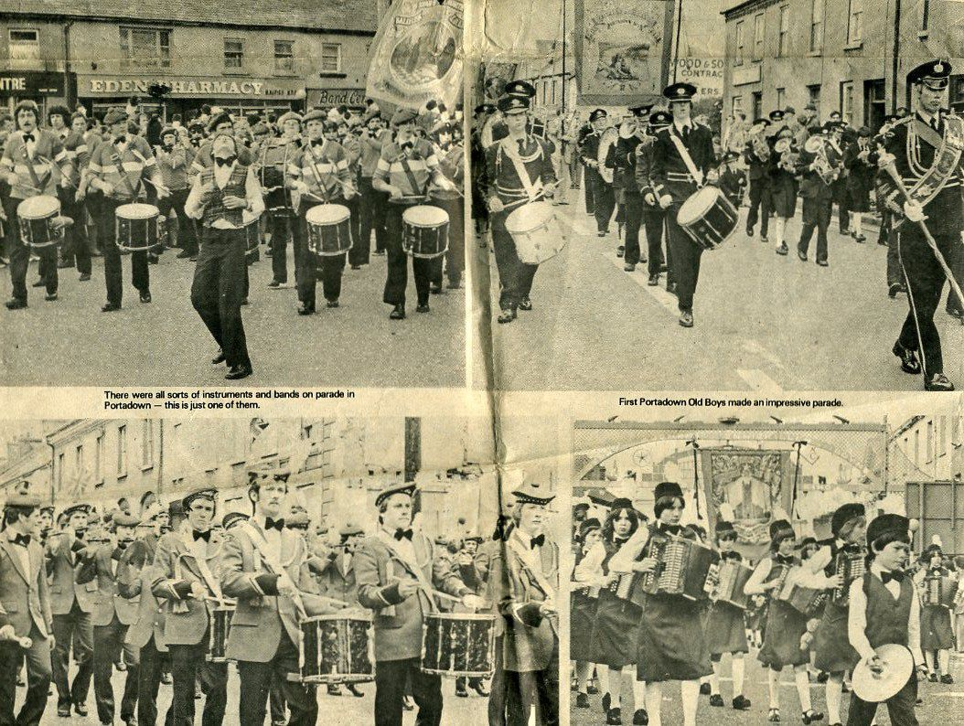 Bands on display in Edenderry