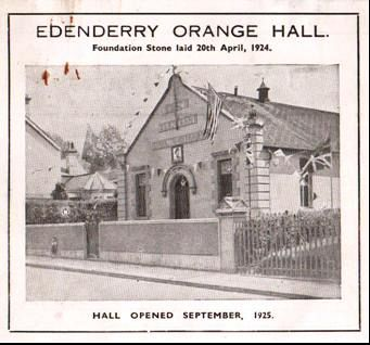 Edenderry Orange Hall VE Day 1945