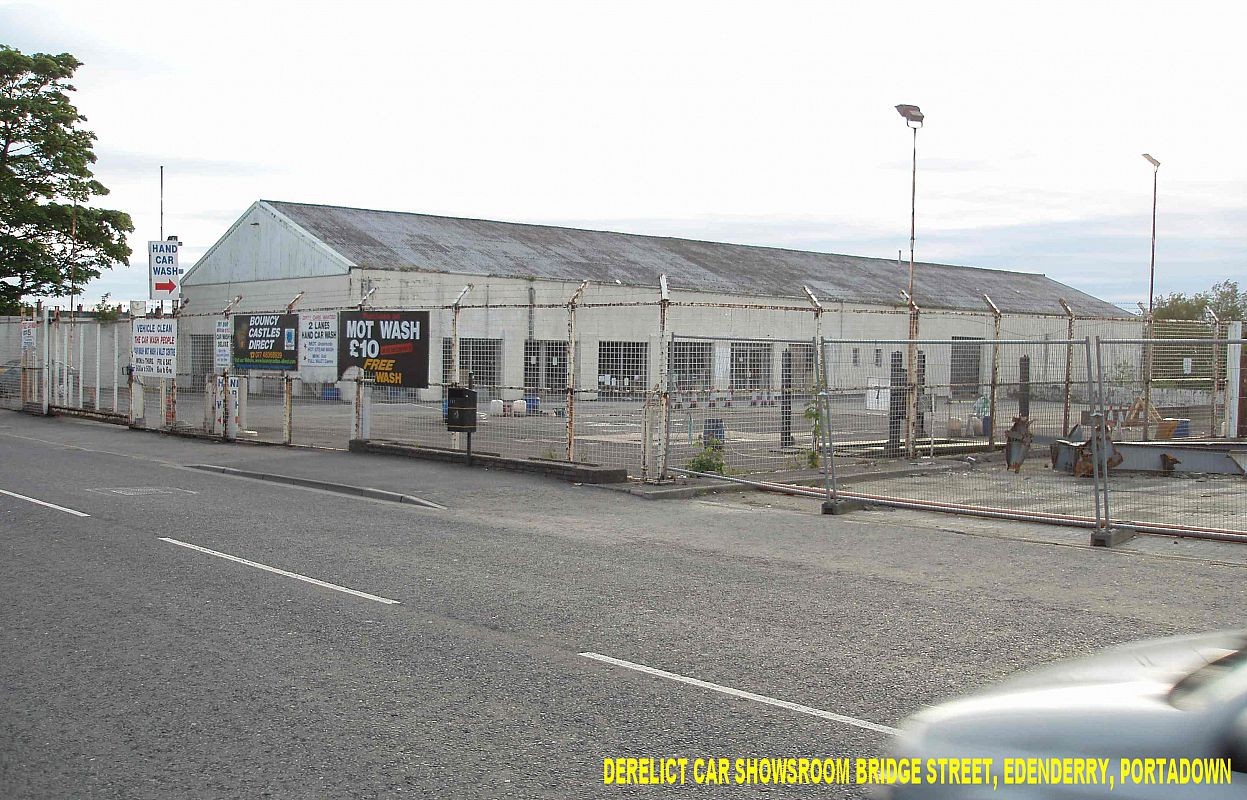 Derelict car showroom Bridge Street